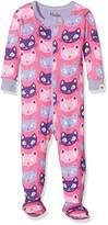 Hatley Baby Girls' 100% Organic Cotton Footed Sleepsuit