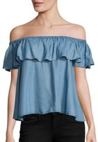 Rebecca Minkoff Chambray Dev Off-the-Shoulder Top