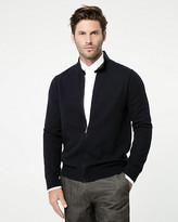 Le Château Textured Cotton Zip-Front Sweater