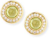 Ippolita 18k Lollipop Mini Peridot & Diamond Stud Earrings