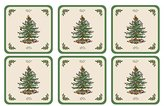 Spode Coasters Boxed Set, Wood, Multi-Colour, Set of 6