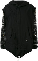 Amen embellished sleeve jacket - women - Cotton/Viscose/PVC/glass - 42