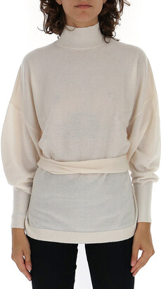 Zimmermann Espionage Turtleneck Waist-Tie Sweater