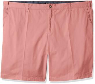 Nautica Men's Big Classic Fit Flat Front Stretch Chino Deck Short