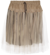 Vivienne Westwood Tulle-overlay gathered skirt
