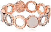 T Tahari Stretch Circles Rose Gold Stretch Bracelet