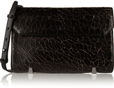Alexander Wang Chastity cracked-leather clutch