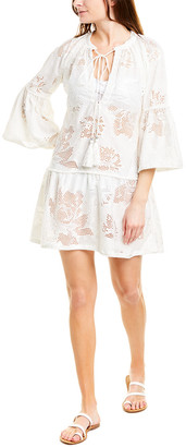 Taj By Sabrina Crippa Eyelet Silk-Blend Mini Dress