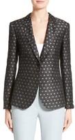 Armani Collezioni Women's Polka Dot Jacquard Jacket