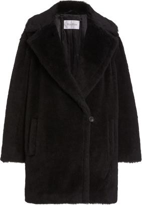 Max Mara Fiocco Short Alpaca and Wool-Blend Coat