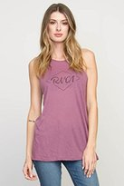 RVCA Juniors Notebook Script Halter Neck Graphic Tank