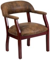Flash Furniture Luxurious Conference Chair in Brown