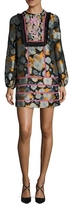 Cynthia Rowley Jacquard Bell Sleeve Dress