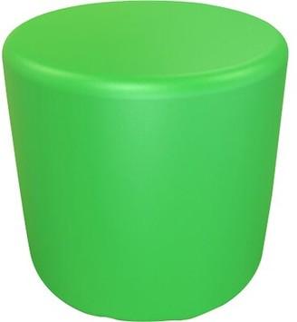 "Circle 16.5"" H Firm Ottoman Ebern Designs Color: Pure Green"