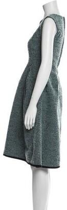 Ter Et Bantine Tweed Pattern Knee-Length Dress Blue