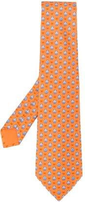 Hermes 2000s Pre-Owned Hippo Print Tie