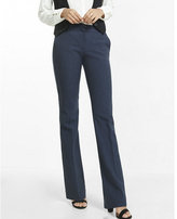 Express notch back slim flare editor pant