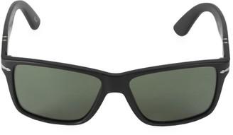 Persol 58MM Matte Rectangular Sunglasses