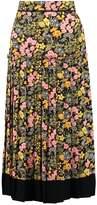 Warehouse GARDEN POSY Pleated skirt multi