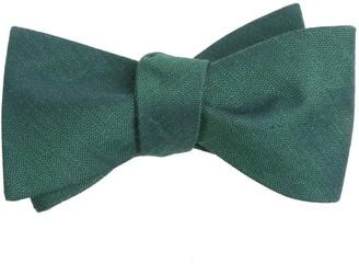 Tie Bar Linen Row Hunter Green Bow Tie
