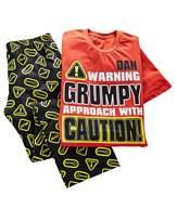 Fashion World Personalised Grumpy Pyjamas