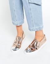 Steve Madden Eleete Rose Gold Toecap Slip On Sneakers