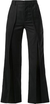 Delada Split-Leg Flared Trousers