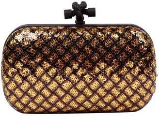 Bottega Veneta Pochette Knot Gold Glitter Clutch bags