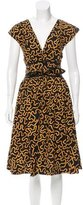 Vena Cava Abstract Print Midi Dress