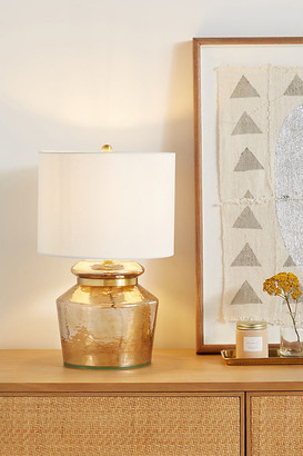 Anthropologie Amber Table Lamp By in Gold Size ALL