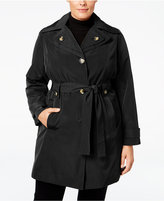 London Fog Plus Size Layered-Collar Trench Coat