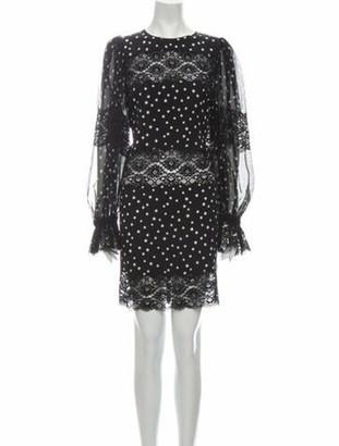 Dolce & Gabbana Silk Knee-Length Dress w/ Tags Black