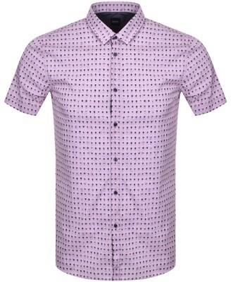 Boss Casual BOSS Magneton Short Sleeve Shirt Pink