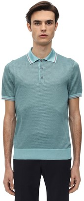 Prada Jacquard Knit Polo Shirt