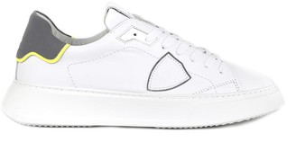 Philippe Model White Temple Veau Reflex Leather Sneaker