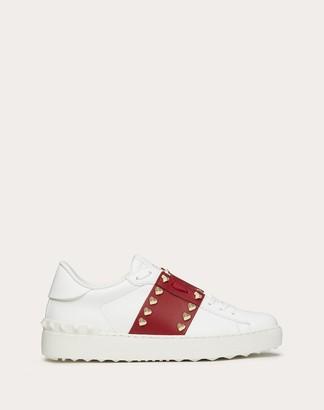 Valentino Rockstud Untitled Vlovetn Sneaker Women Red 100% Pelle Di Vitello - Bos Taurus 35