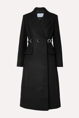 Prada Belted Wool Coat - Black