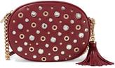 MICHAEL Michael Kors Ginny Embellished Textured-leather Shoulder Bag - one size