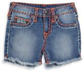 True Religion Little Boy's & Boy's Faded Frayed Shorts