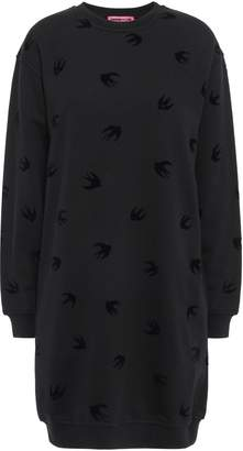 McQ Flocked French Cotton-terry Mini Dress