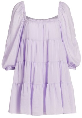 Alice + Olivia Rowan Babydoll Tiered Mini Dress