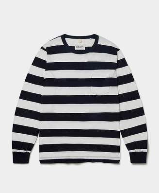Albam - Wide Stripe Long Sleeve T Shirt Navy & White