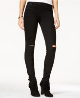 Jessica Simpson Kiss Me Ripped Black Wash Skinny Jeans