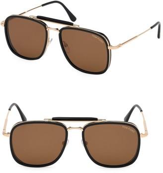 Tom Ford Huck 58MM Aviator Sunglasses