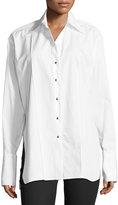 Helmut Lang Oversized Long-Sleeve Button-front Poplin Shirt