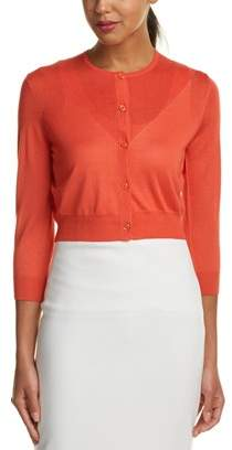 Carolina Herrera Silk & Cashmere-blend Cardigan.