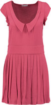 RED Valentino Pleated crepe mini dress