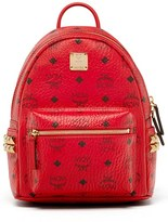 MCM 'Mini Stark Side Stud' Coated Canvas Backpack - Red