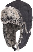 Dockers Men's Plaid Trapper Hat with Faux-Fur Trim