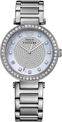 Juicy Couture Luxe Couture Women's Quartz Watch with Silver Dial Analogue Display and Silver Stainless Steel Bracelet 1901266